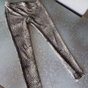Free People Animal Print Corduroy Leggings Size: M